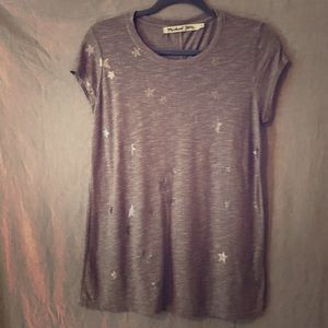 Michael Stars T shirt star print gray EUC